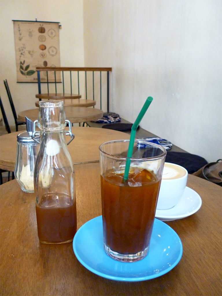 Iced coffee au Télescope Café